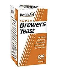 Health Aid Brewers Yeast 240 ταμπλέτες, μαγιά μπύρας, ακμή, τριχόπτωση, εγκυμοσύνη, δίαιτα, συμπλήρωμα, φαρμακείο