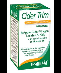 Health Aid Cider Trim 90 κάψουλες, αδυνάτισμα, δίαιτα, συμπλήρωμα, μηλόξυδο, λεκιθίνη, φυτικό, φυτοθεραπεία, φαρμακείο