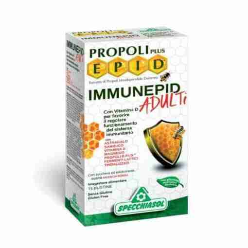 Specchiasol Propoli Plus Epid Immunepid 15 φακελίσκοι, πρόπολη, προβιοτικά, μαγνήσιο, βιταμίνη D3, φυτοθεραπεία, βότανα, συμπλήρωμα, φαρμακείο