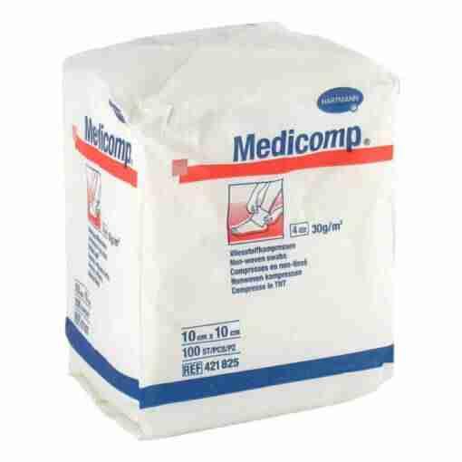 Hartmann Medicomp Μη Αποστειρωμένες Γάζες 100τμχ, γάζες, φροντίδα τραυμάτων, μεγάλες γάζες, μη αποστειρωμένες, πακέτο, φαρμακείο